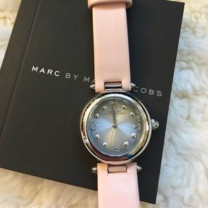 Marc by Marc Jacobs pink leather watch